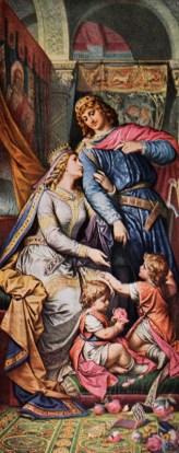 Lohengrin und Elsa gemeinsam mit ihren Kindern.
