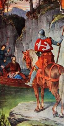 Parzival dürstet nach Taten. Er begegnet an einem See Amfortas. Der kranke König weist ihm den Weg dem zur Gralsburg.