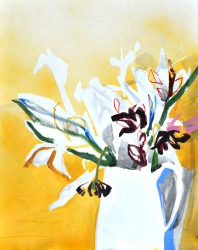 Flowers in white Vase