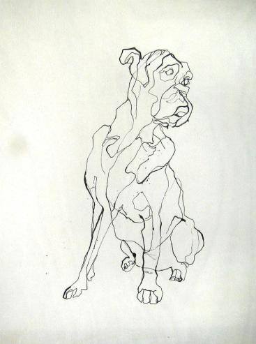 Boxer | Ink on wooden panel | 295€|