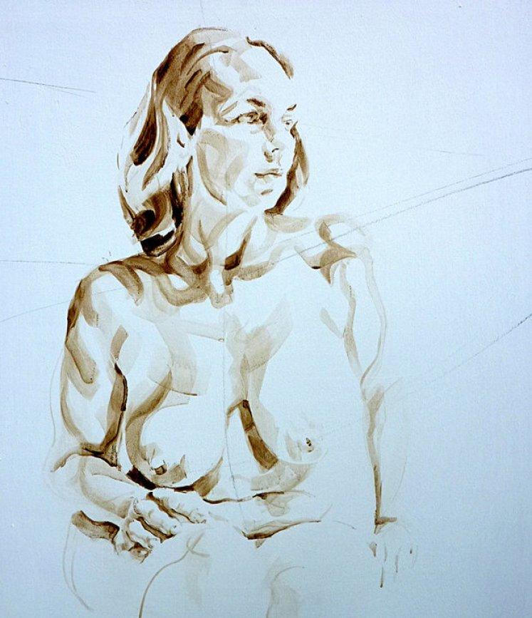 Nude Self 03| Acrylic on wooden panel | 70x50 cm | 650€