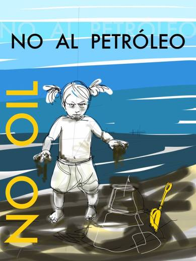 Flyer No Oil Protest Lanzarote Canary Islands