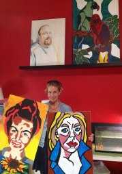 My brother Bas painted me - twice!