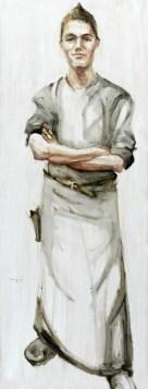 Waiter | Acrylic on wooden panel | 60x120 cm | 750€