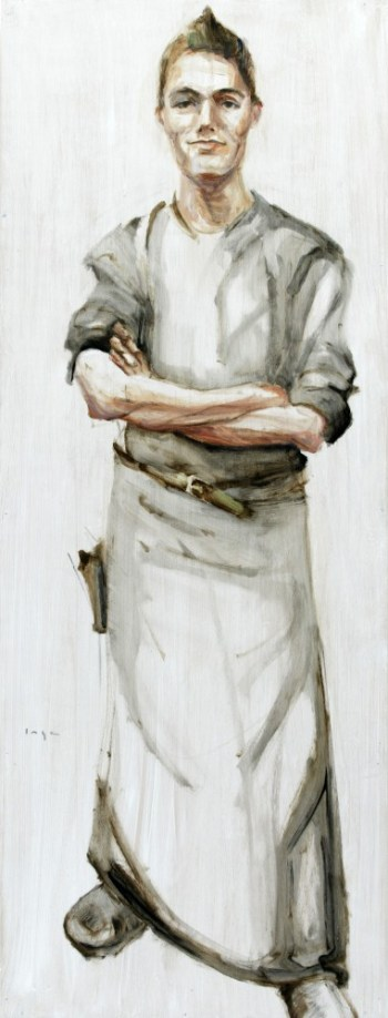 Waiter | Acrylic on wooden panel | 60x120 cm | 750€
