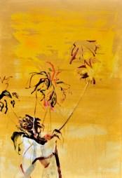 Flowers in Vase Yellow| Acrylic on wooden panel | 90x120 cm | 1850€