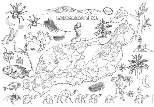 The Lanzarote XL Colouring Poster 70x100cm