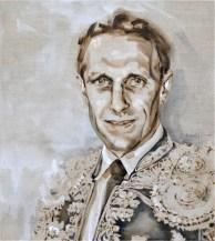 Barry van Galen AZ as Torero   Acrylic on linnen canvas  70x80 (?) cm   750€