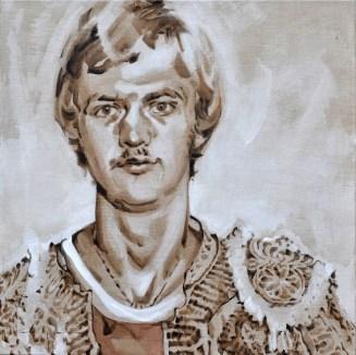 Young Louis van Gaal as Torero   Acrylic on linnen canvas  70x80 (?) cm   850€