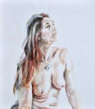 Aurora   Acrylic on wooden panel   70x80 cm   950€