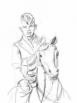 Henk op kermispaard