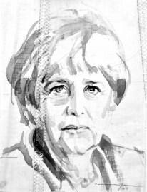 Angela Merkel |Acrylic on sailcloth | 30 x 42 cm | 400€