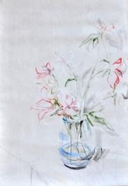 Flowers Sail Light |Acrylic on sailcloth | 88x130 cm | Steel frame top&bottom | 1200€