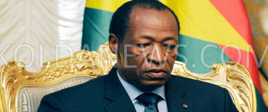 Burkina Blaise Compaoré décrète l'état de siège