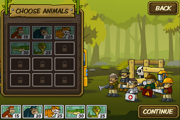 Choose animal - Side-scroller defense game for iPhone, game for iPad, game apps for Android