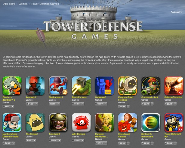 Top Tower Defence Games App Store