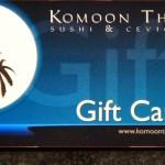 Buy a Komoon Gift Card