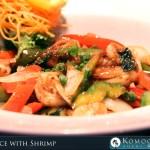 Basil Sauce with Shrimp