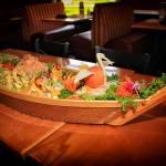 Sushi Boat with decorative bird
