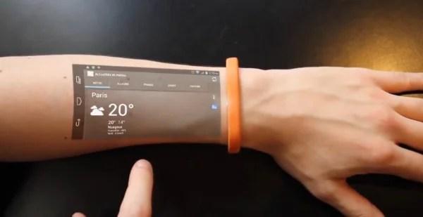 Akıllı Telefonlar Cicret akıllı bileklik ile kola taşınıyor.