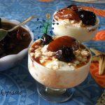 Αποδομημένη Παύλοβα με Λεμονάτη Κρέμα Πόσετ Ρυζόγαλου και Χειμωνιάτικα Φρούτα Ποσέ