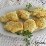 Kolokytholoukoumades (Battered Courgette Flowers filled with Cheese)
