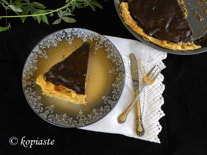 The Best Chocolate Honey Baklavas Tart - Kopiaste..to ...