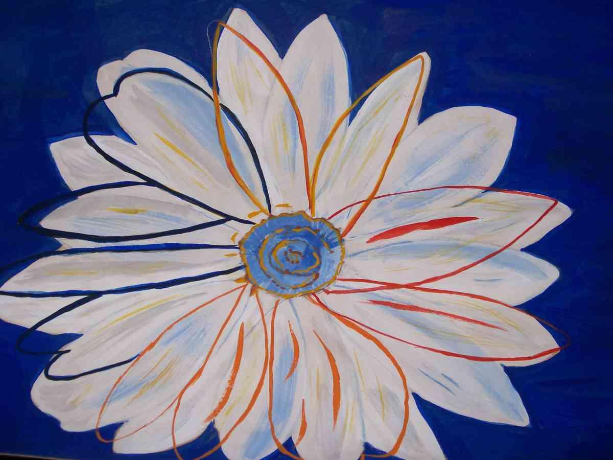IVYCOPY OF DAISY BLUE ANDY WARHOL