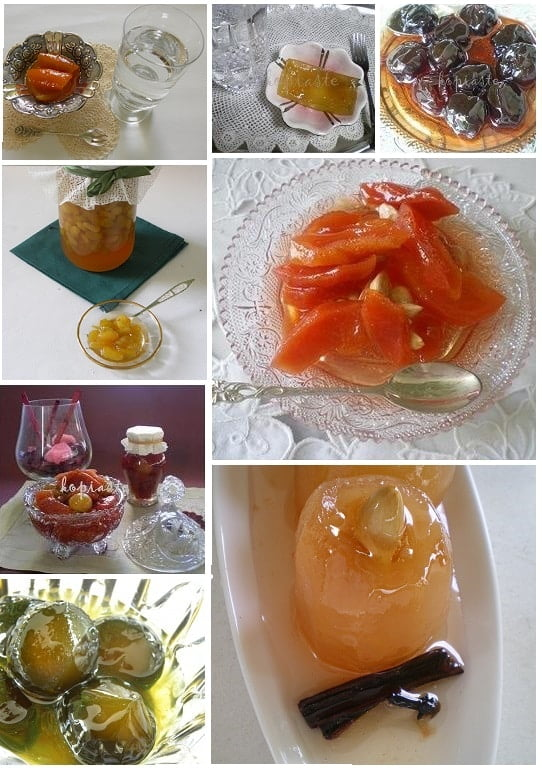collage fruit preserves