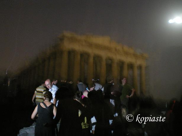Acropolis with moon