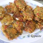Greek Veggie Burgers and Cream Cheese Dip