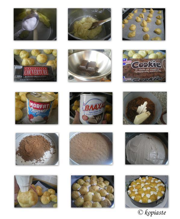 collage-profiterole-chocolate-cheesecake
