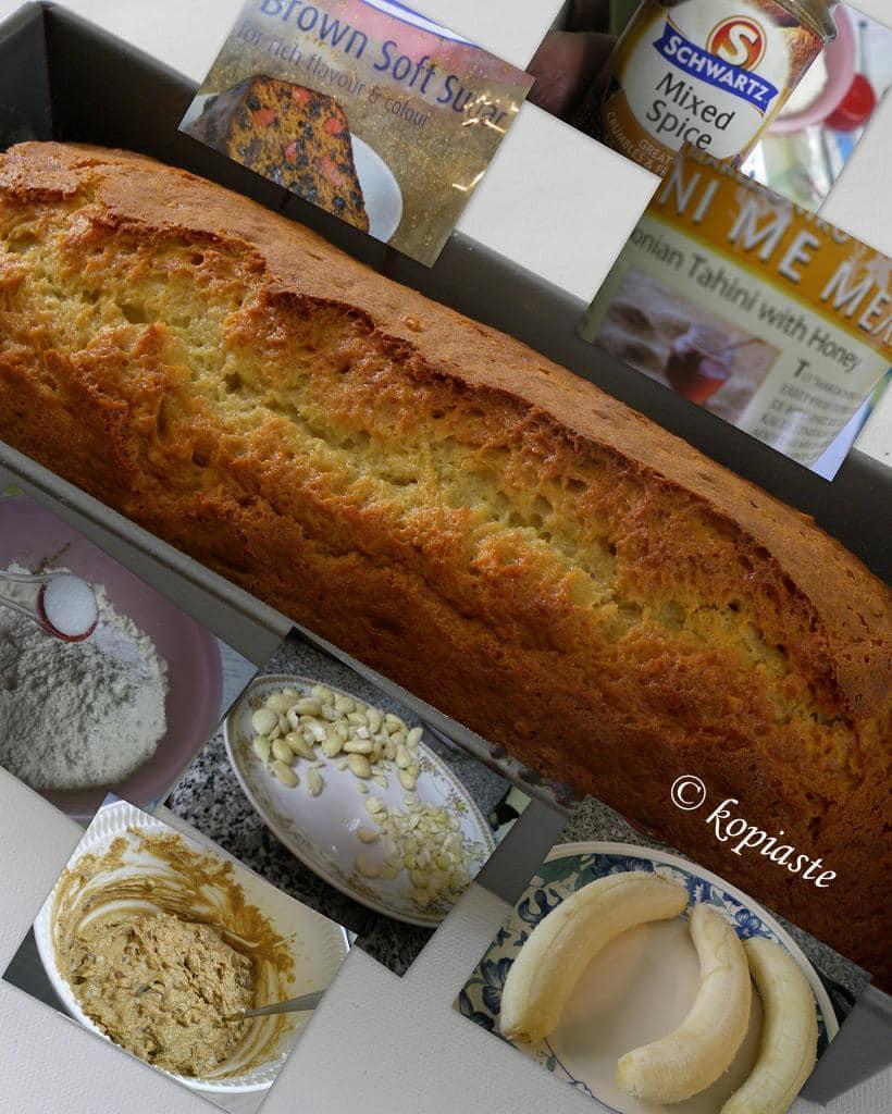 Collage Banana Tahini Bread