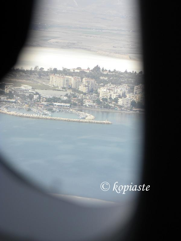 Larnaca from airplane