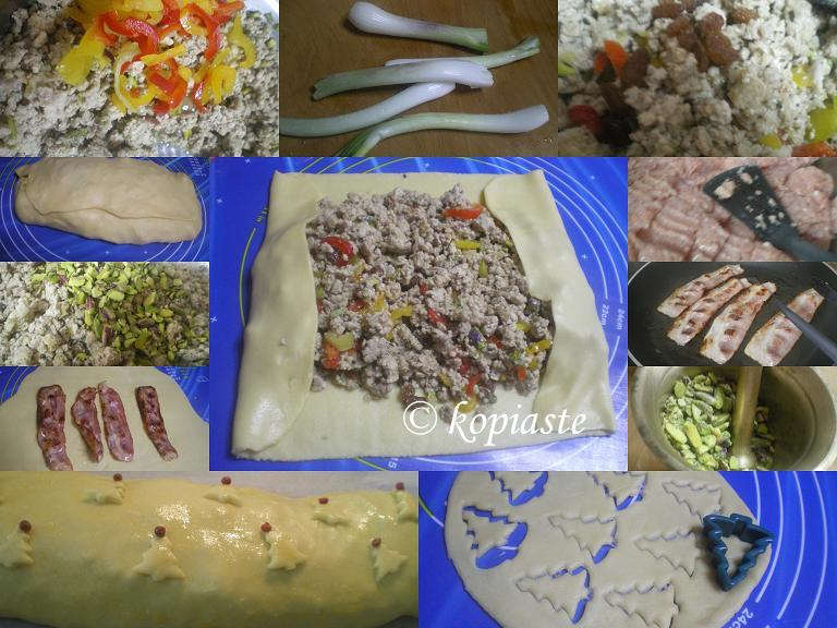 Collage Turkey Roulade for Christmas