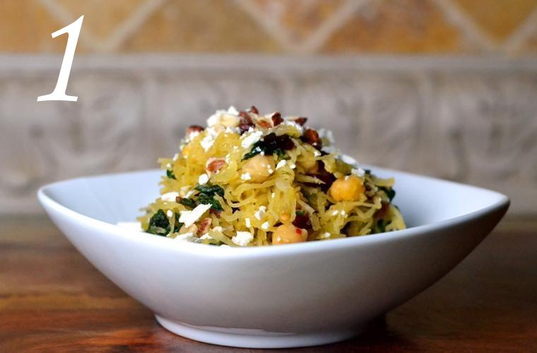 1 Spaghetti squash with chard chickpeas, by Cara