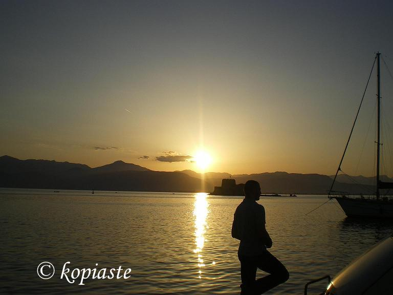 Sunset view of bourtzi