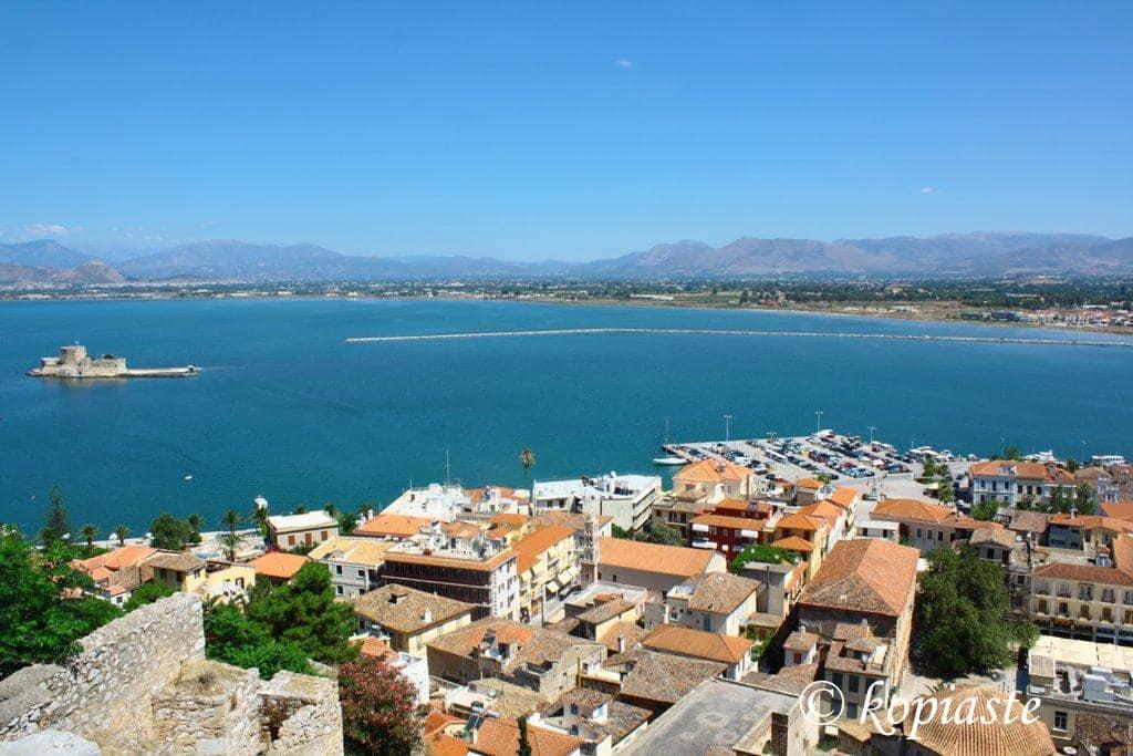 View from Acronafplia top - Port Nea Kios