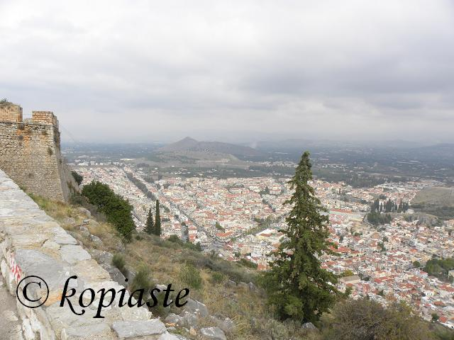 View of Nafplion from Palamidi