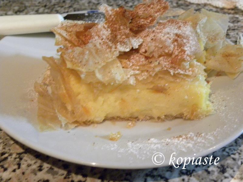 Bougatsa with cinnamon