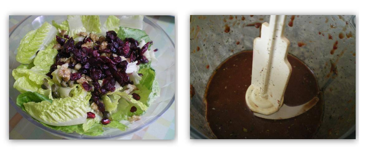 Collage lettuce salad