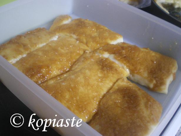 Caramelized Rice Pudding cut