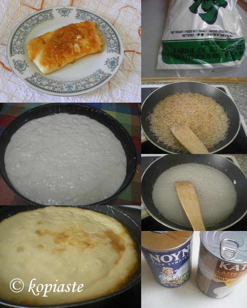 Collage Caramelized Rice Pudding