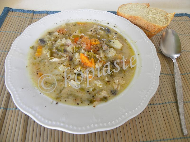 Chicken Trahanas Soup marked