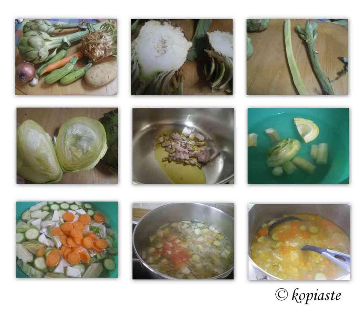 Collage Artichoke Celeriac Soup