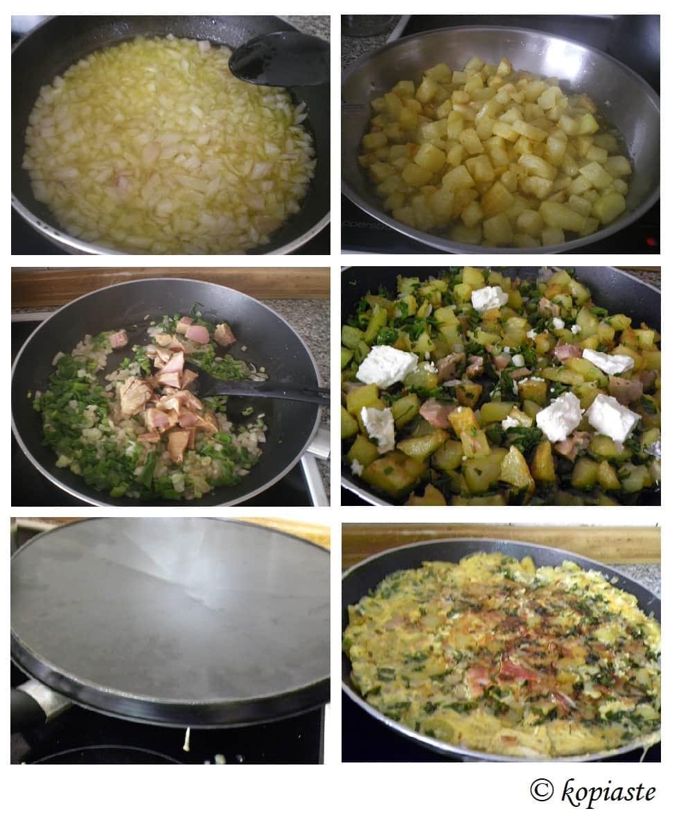 Collage Potato Omelet