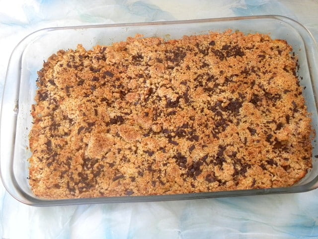 Apple Chocolate and ginger crisp