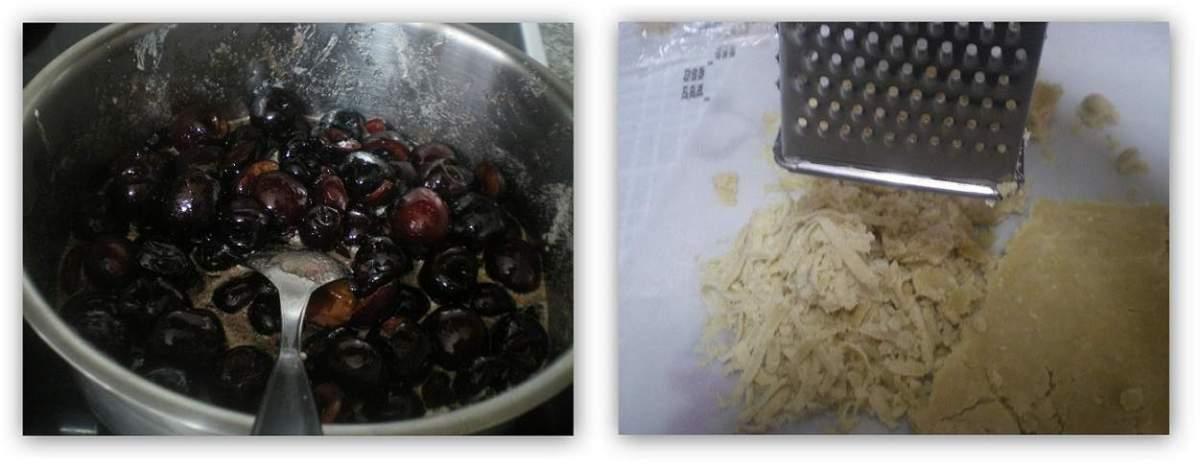 Collage cherry crumble