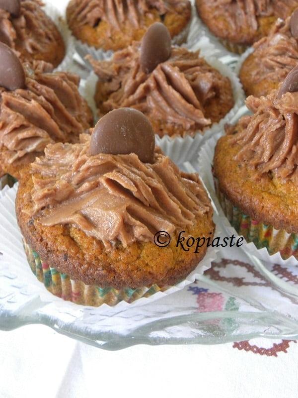 Carob Buttnernut Squash Muffins
