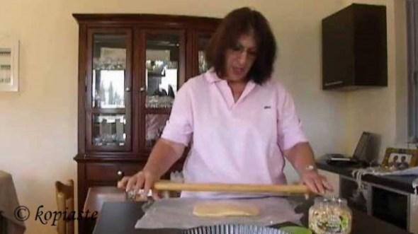 Ivy making tart